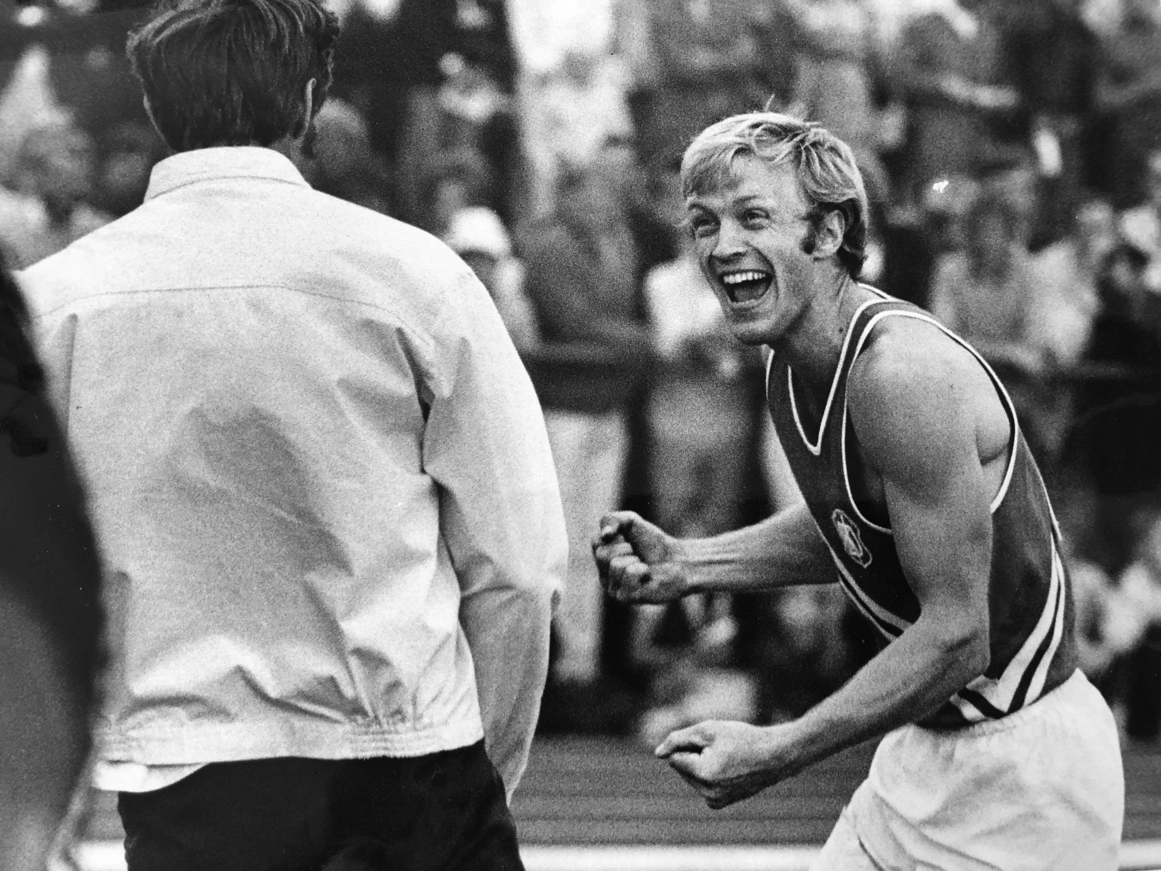 """Hans Lagerqvist displays his love for the pole vault with classic """"Hasse"""" enthusiasm."""